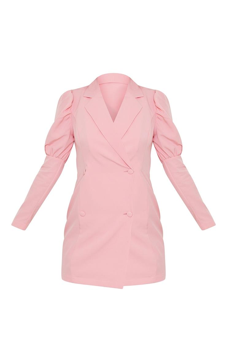 Dusty Pink Bow Detail Open Back Blazer Dress 5
