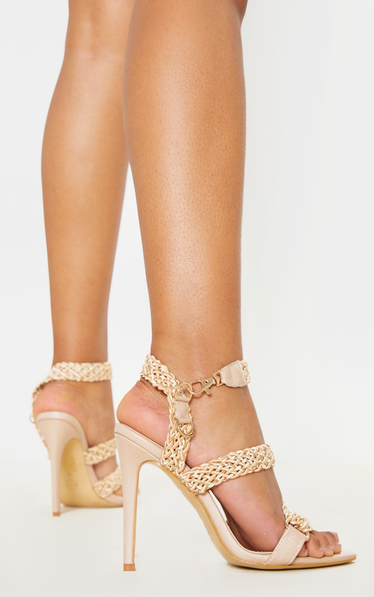 Natural Buckle Clasp Rope Strap Sandal 2