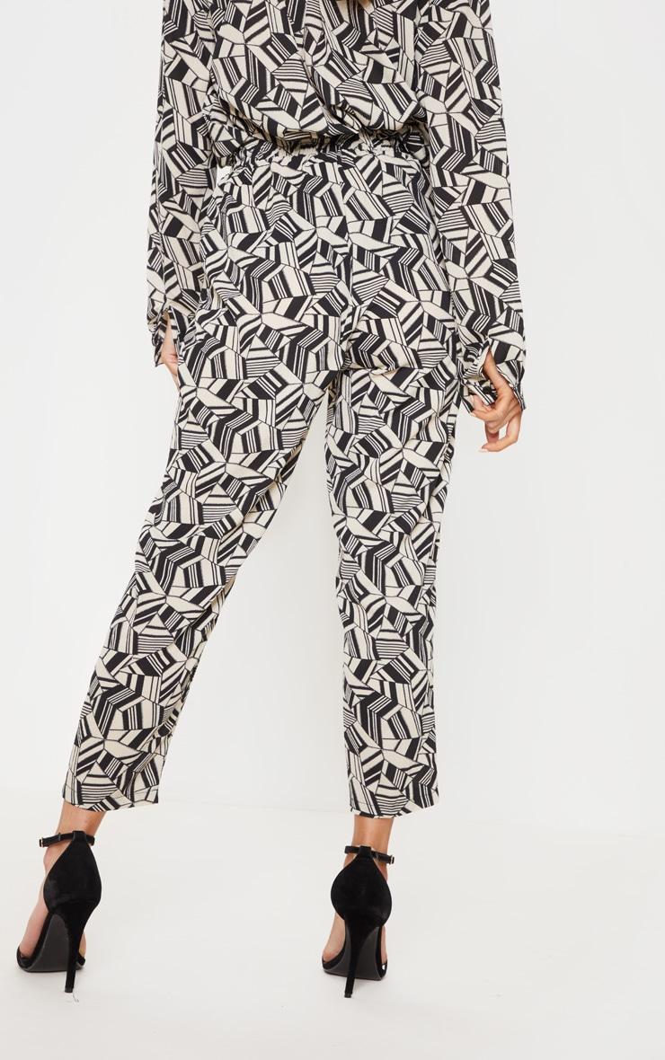 Monochrome Printed Cigarette Trouser 4
