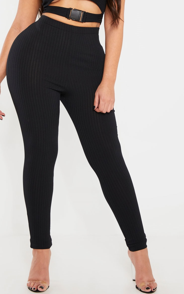Shape Black Ribbed Legging 2