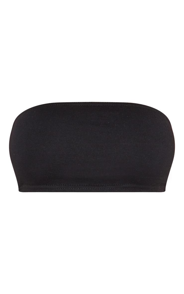 Shape Black Sweat Bandeau Crop Top 3