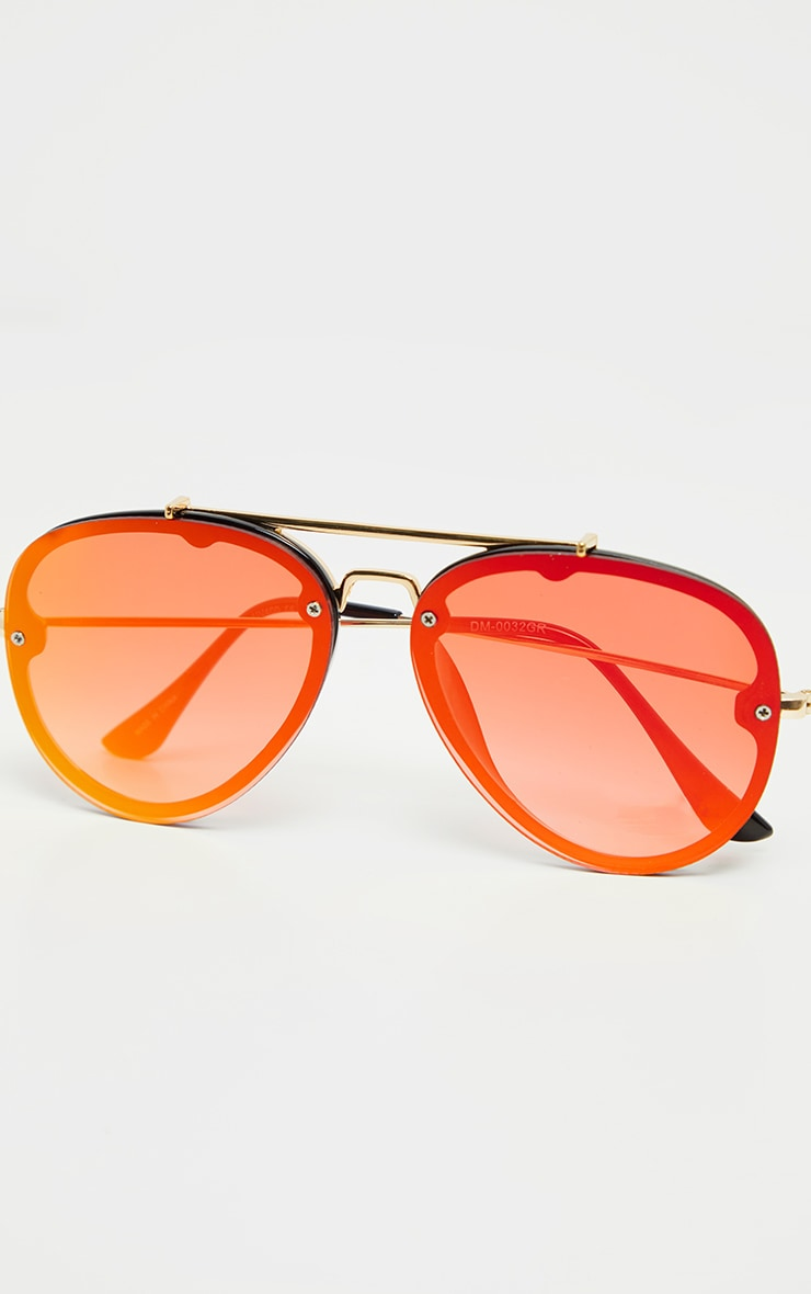 Red Tinted Lens Aviator Sunglasses 3
