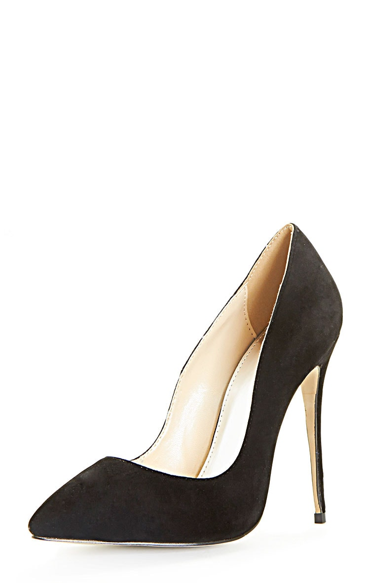 Sophie Black Suede Heeled Stiletto  4