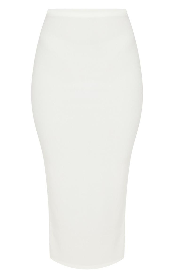 Cream Rib Midaxi Skirt  3