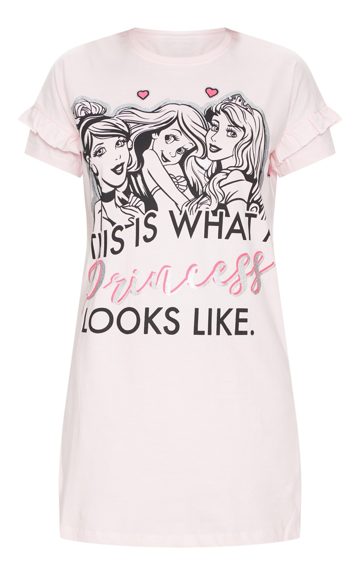 Pale Pink DISNEY Princess Short Sleeve Nightie 3