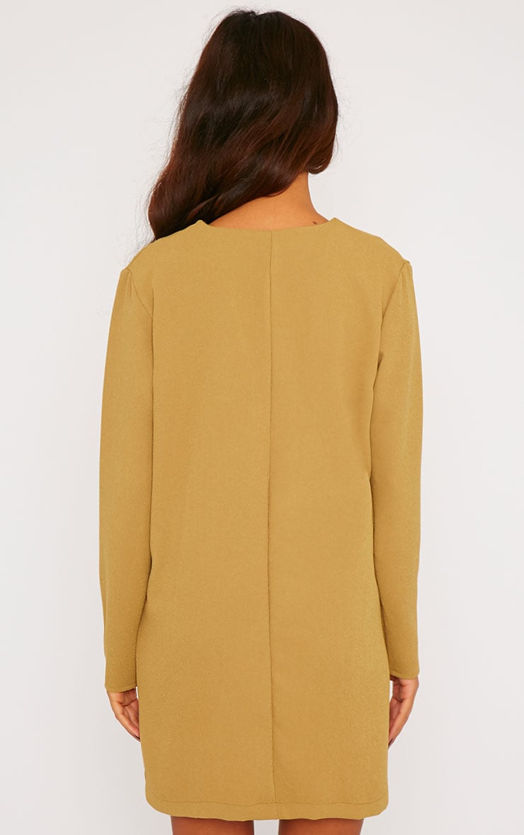 Jemima Khaki Loose Fit Blazer Dress 2