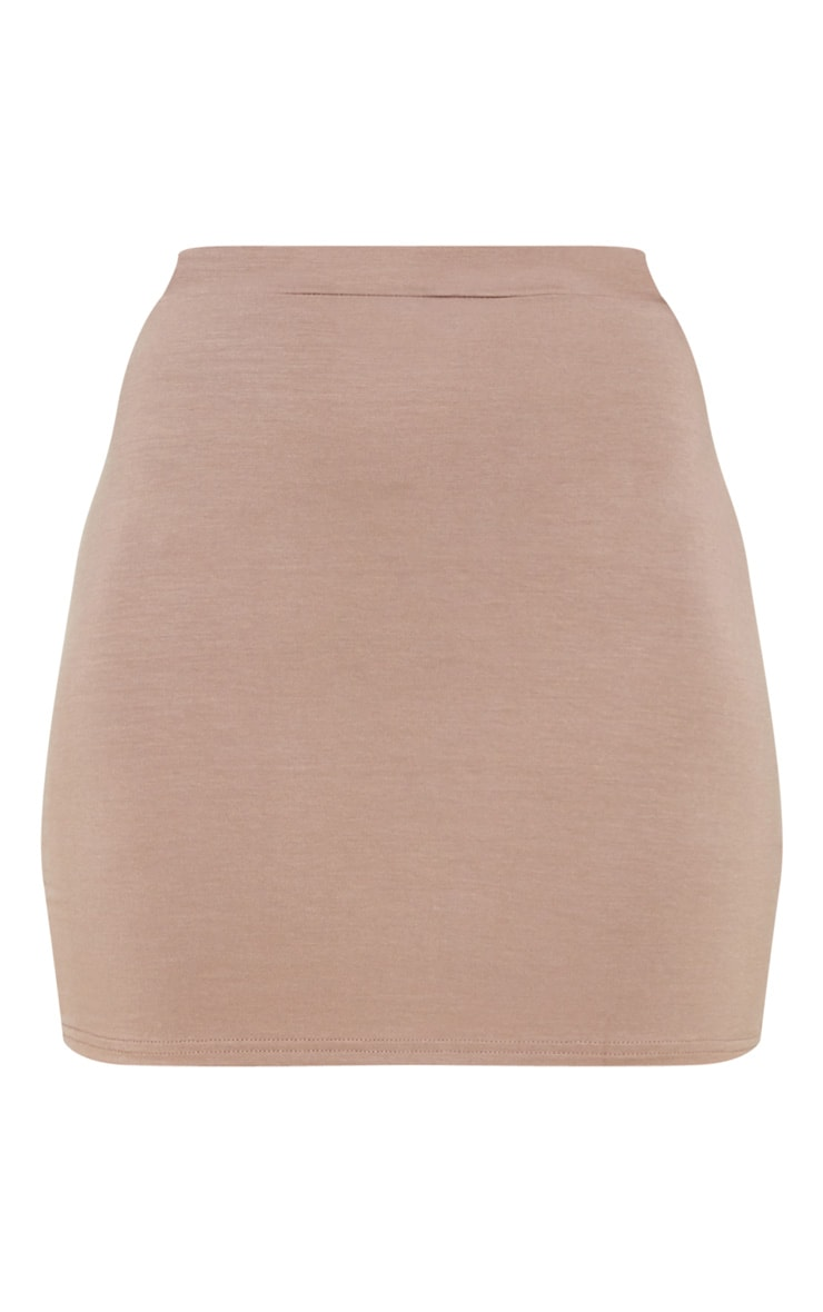 Taupe Ultimate Jersey Mini Skirt 3