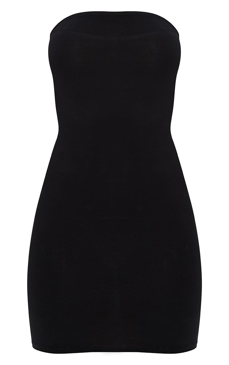 Black Bandeau Strap  Detail Bodycon Dress 3