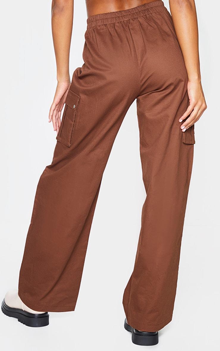 Chocolate Wide Leg Cargo Pants 3