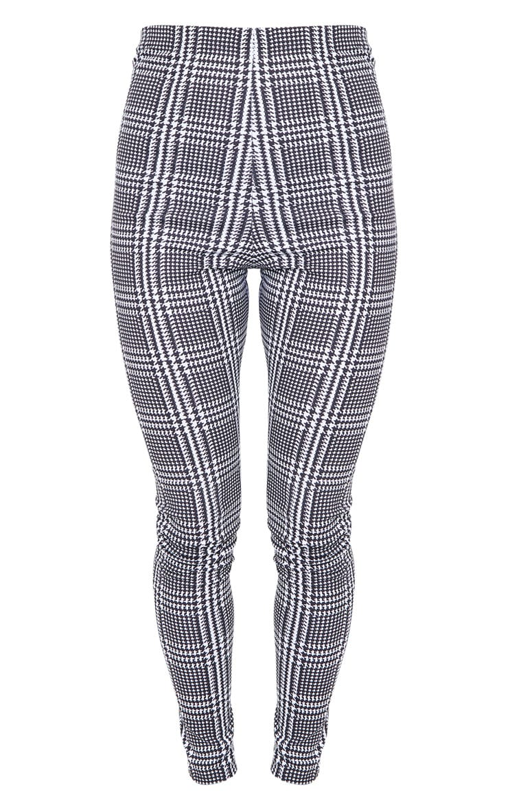 Monochrome Check Basic Leggings 5