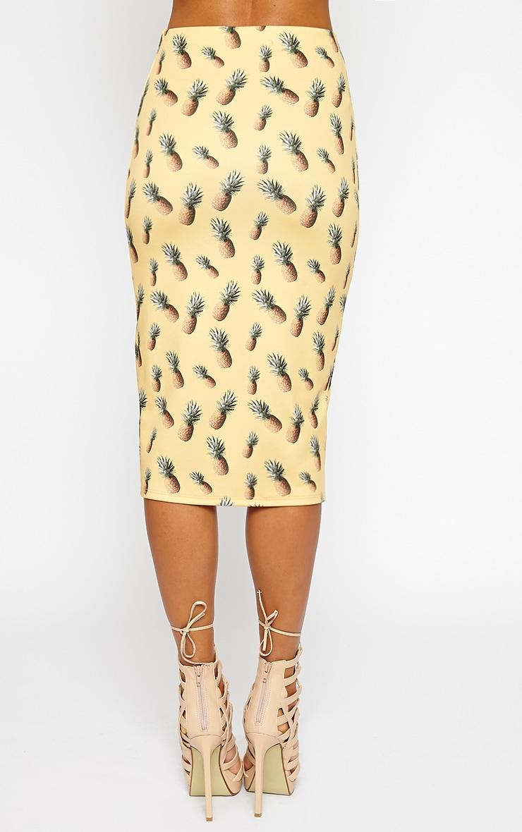 Perry Pineapple Print Midi Skirt 4