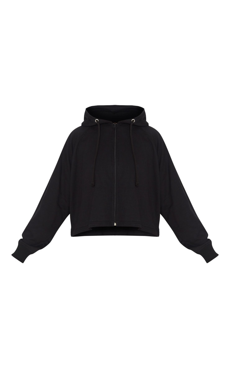 PRETTYLITTLETHING Black Soft Zip Up Gym Sweat 5