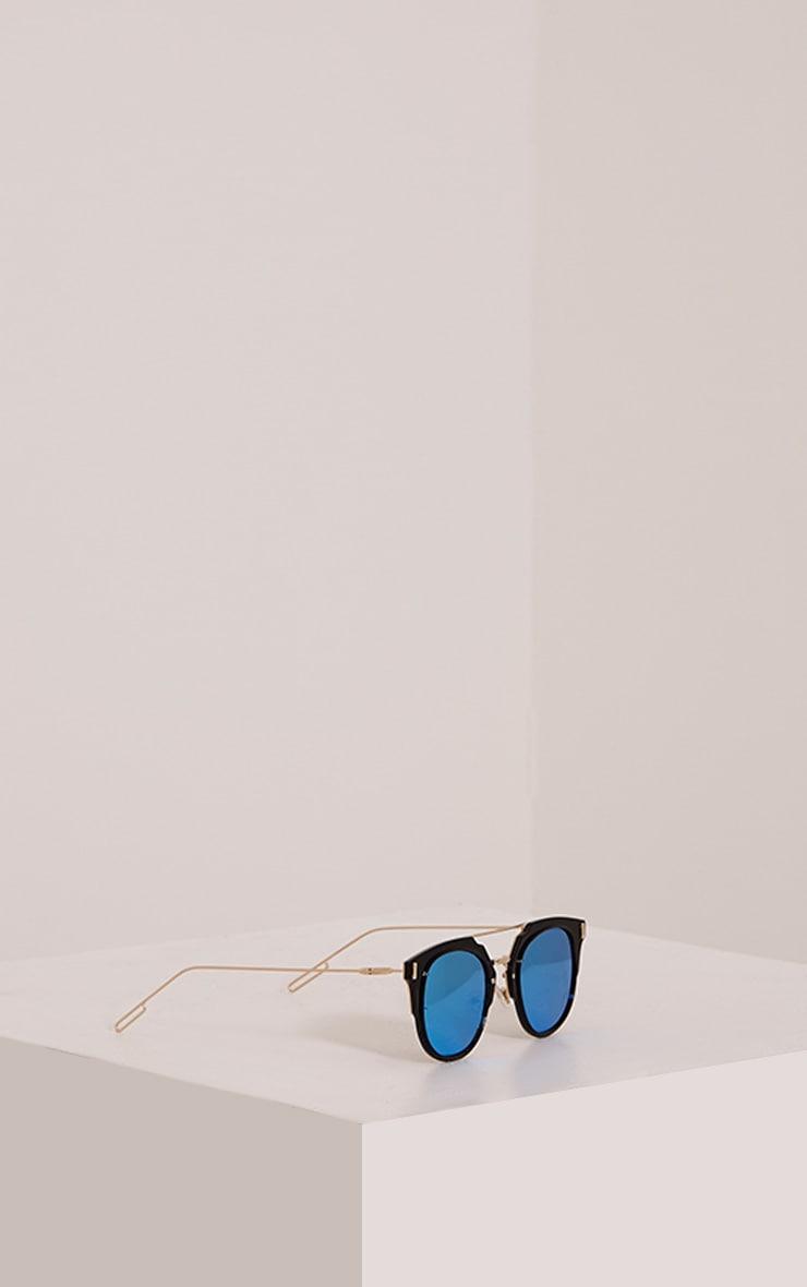 Sharah Black Two Tone Sunglasses 4