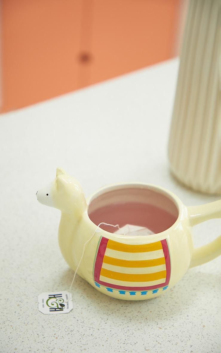 Cream Llama Mug 2