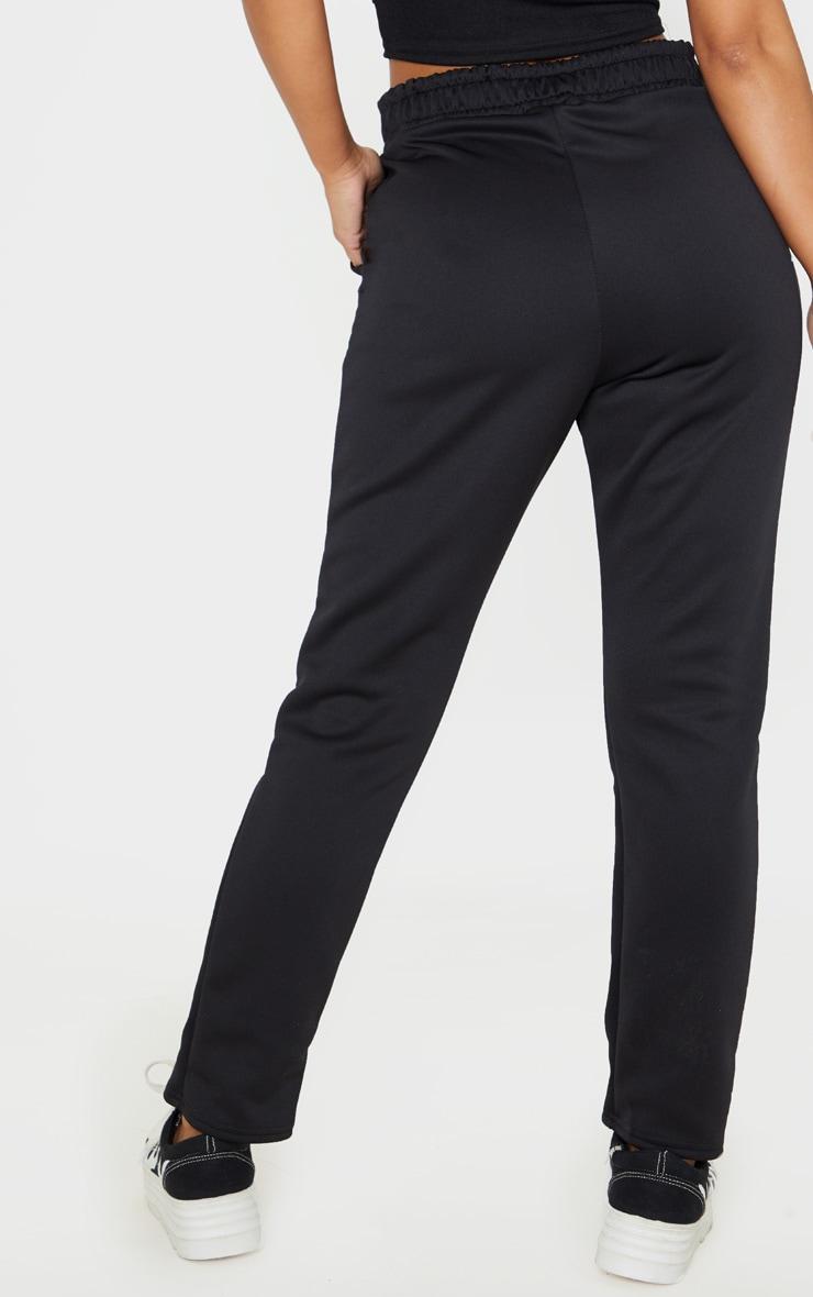 Petite Black Ruched Waist Pants  4