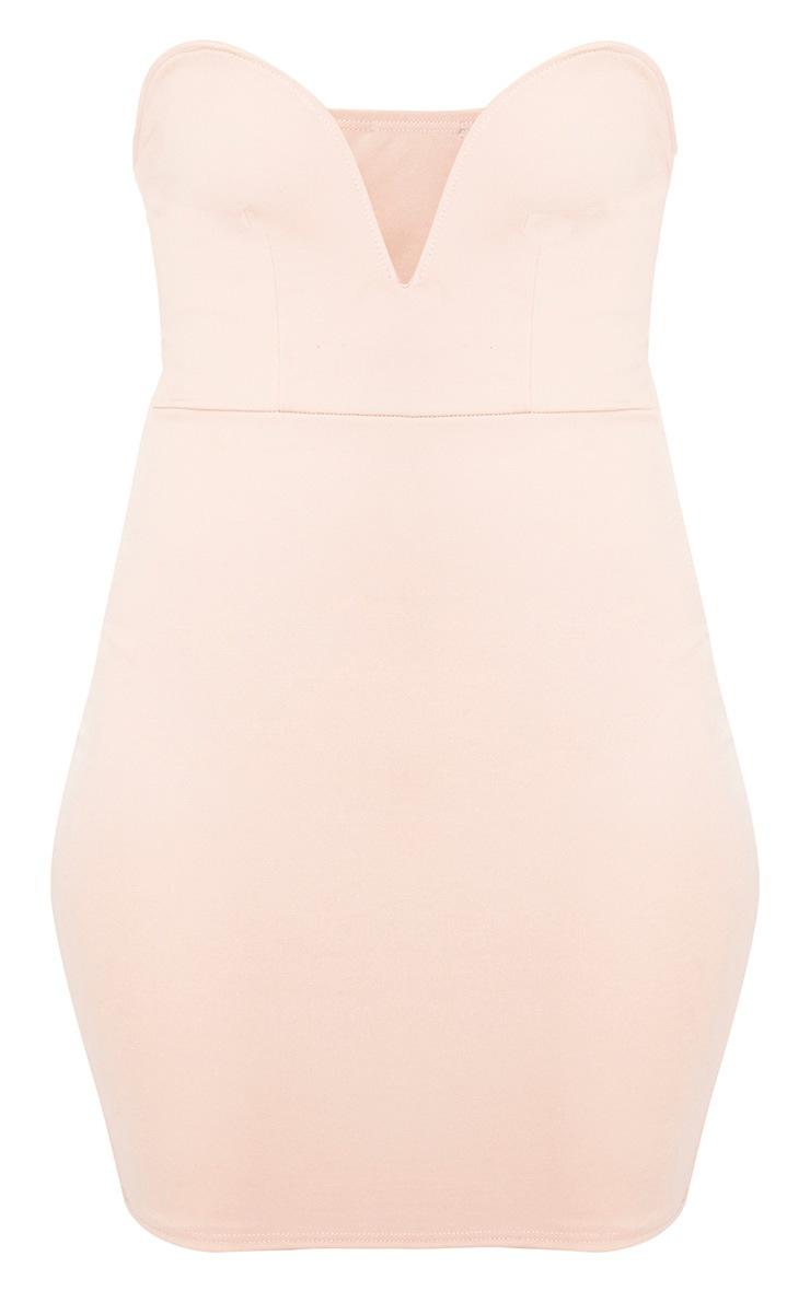 Vienna Nude Bandeau Bodycon Dress  3
