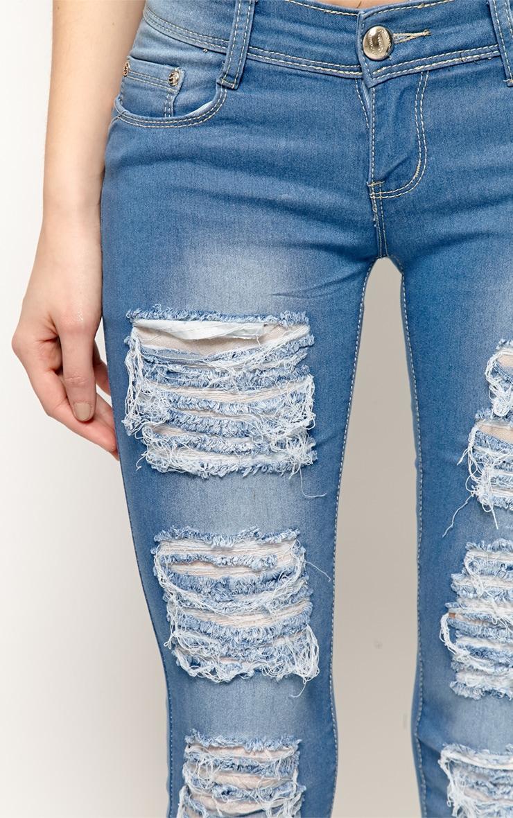 Danika Blue Ripped Skinny Jeans-40 5
