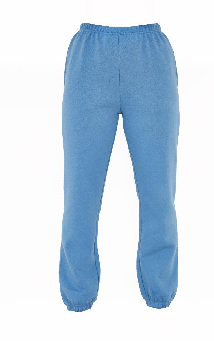 Dusty Blue Basic Cuffed Hem Joggers 5