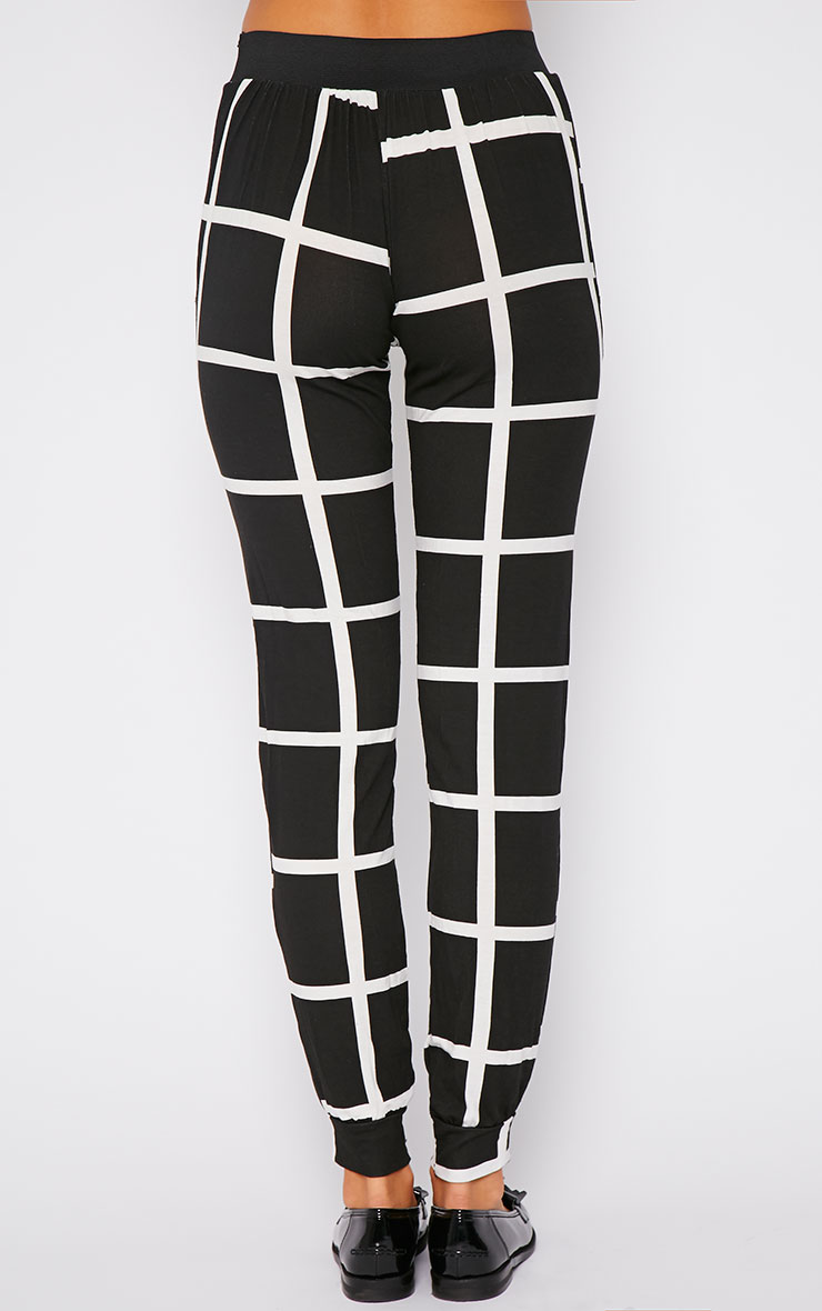 Leah Monochrome Square Print Trousers 5