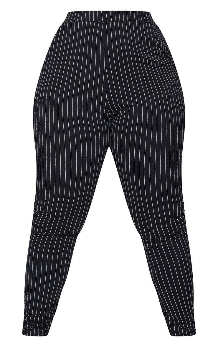 Plus Monochrome Pinstripe Skinny Pants 5