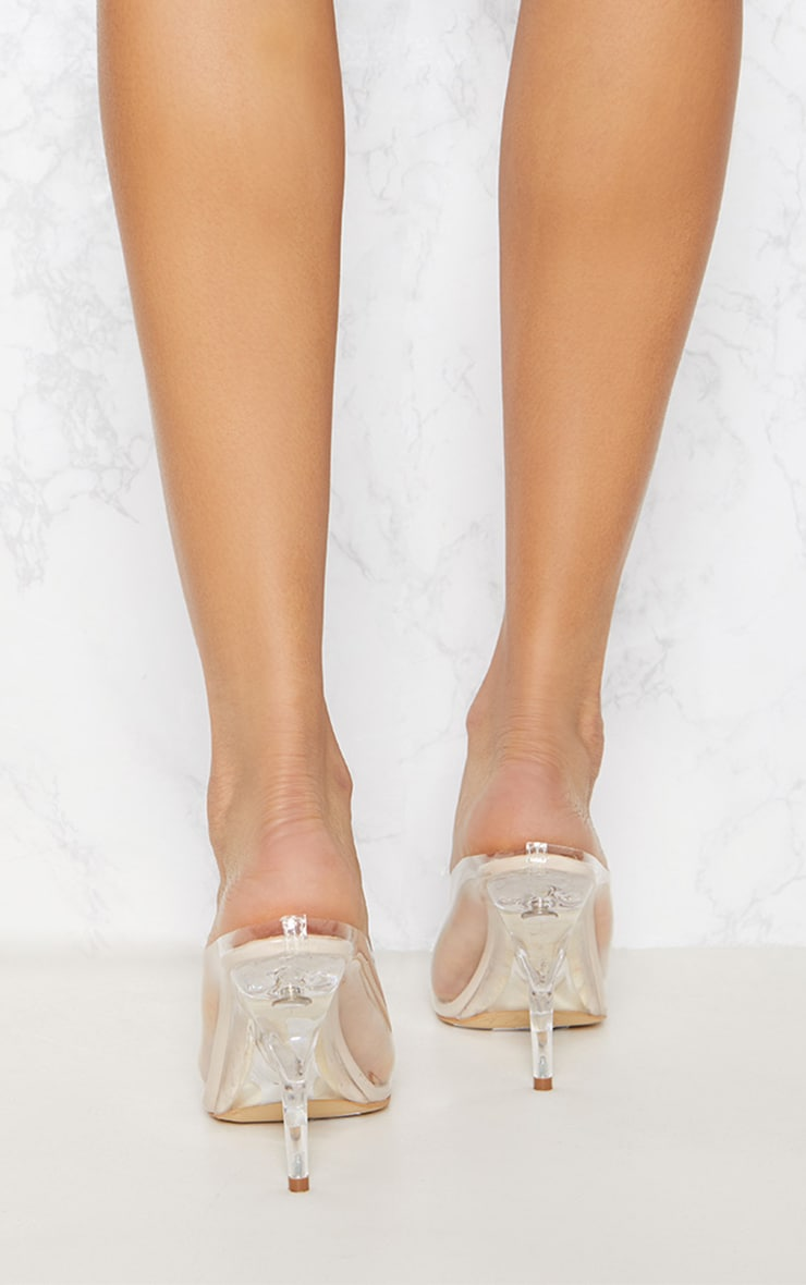Clear Heeled Mules 4
