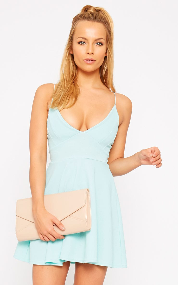 Luccie Mint Crepe Skater Dress 1