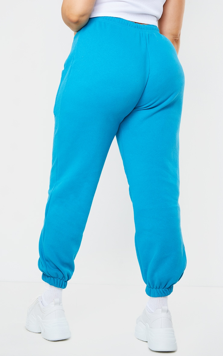 Plus Blue Pocket Thigh Casual Joggers 3