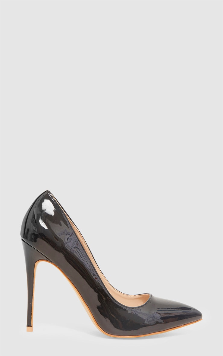 Black Patent Court Shoe 3