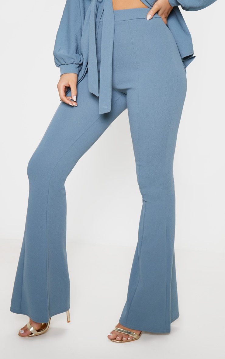 Petrol Blue Flared Trouser 2