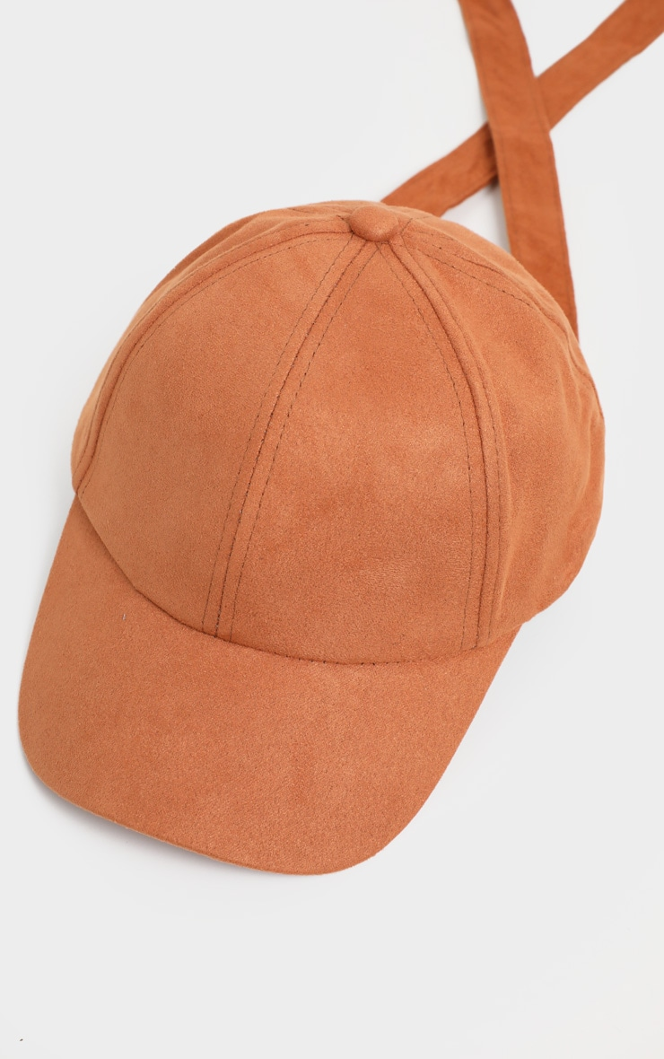Brown Suedette Baseball Cap 3