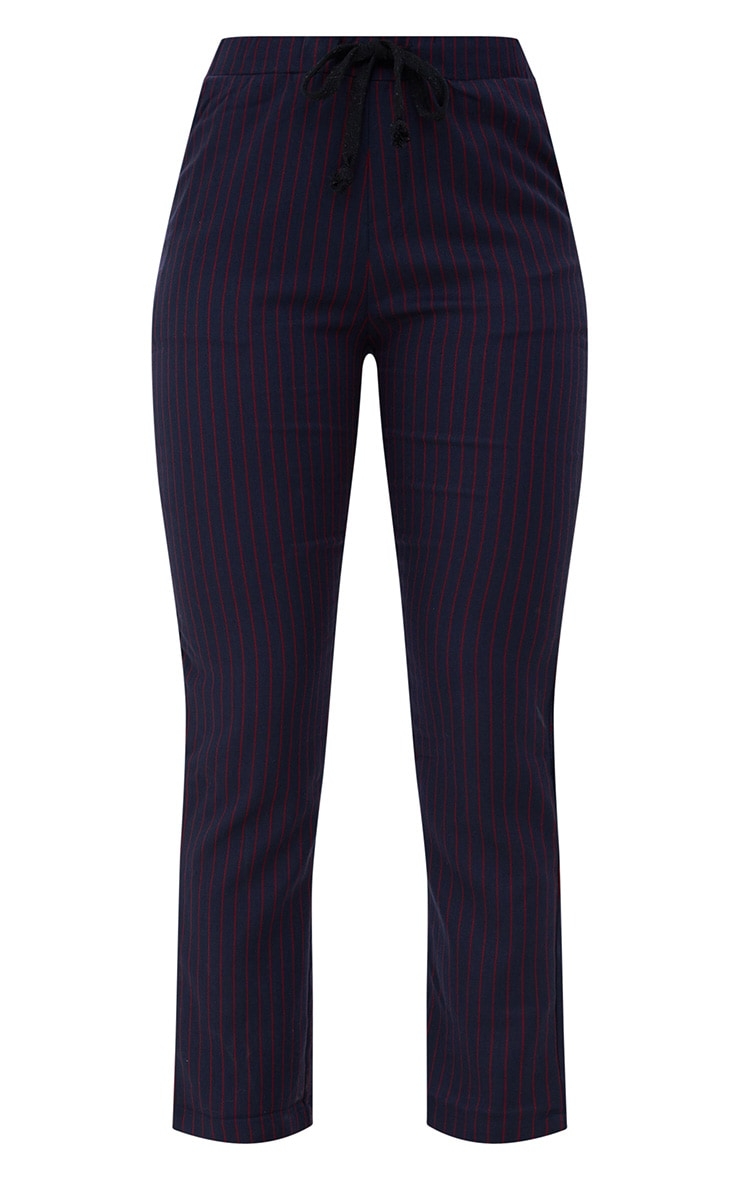 Navy Pinstripe Trousers 3