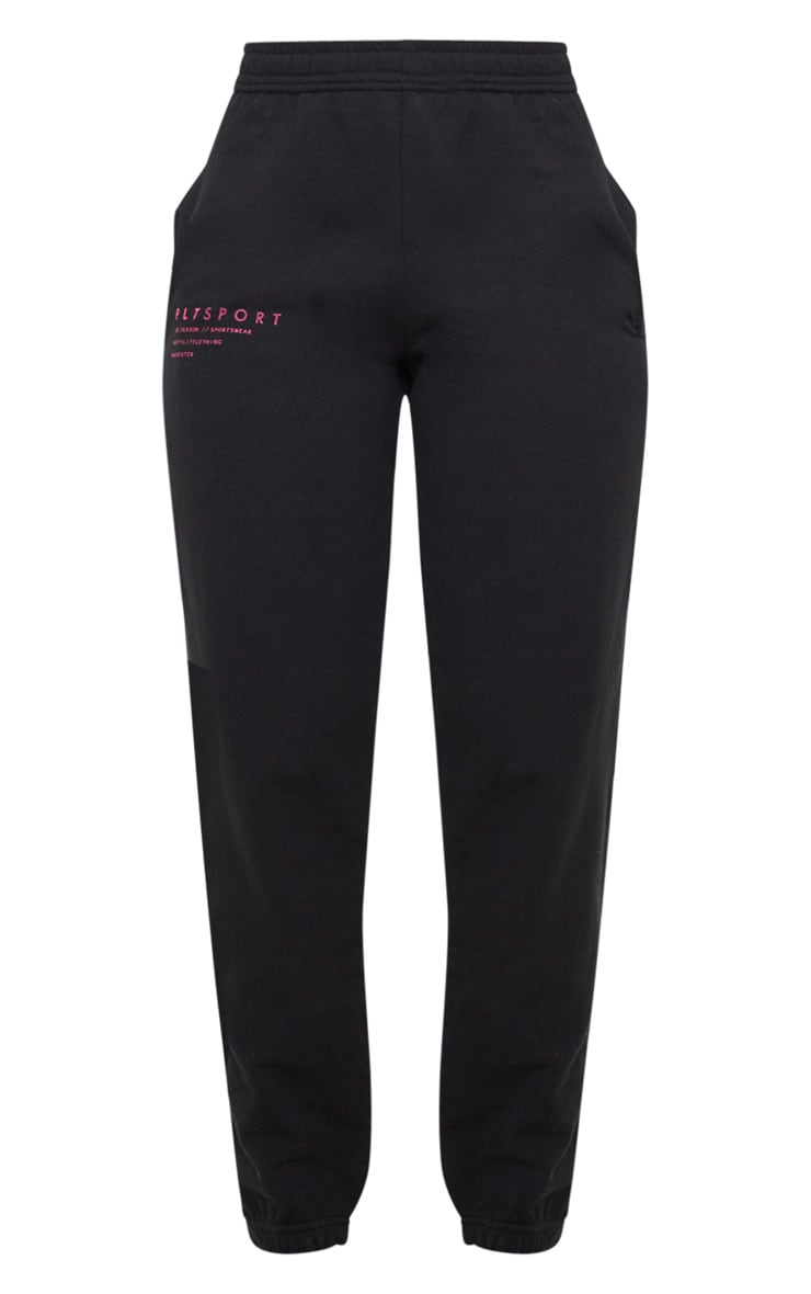 PRETTYLITTLETHING Black Care Logo Gym Sweat Jogger 3