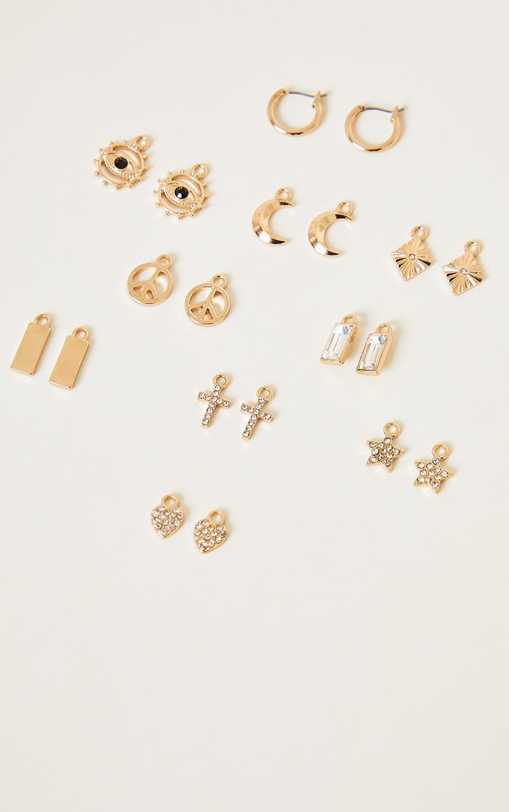 Gold Diamante Assorted Mix and Match Hoop Pack 1