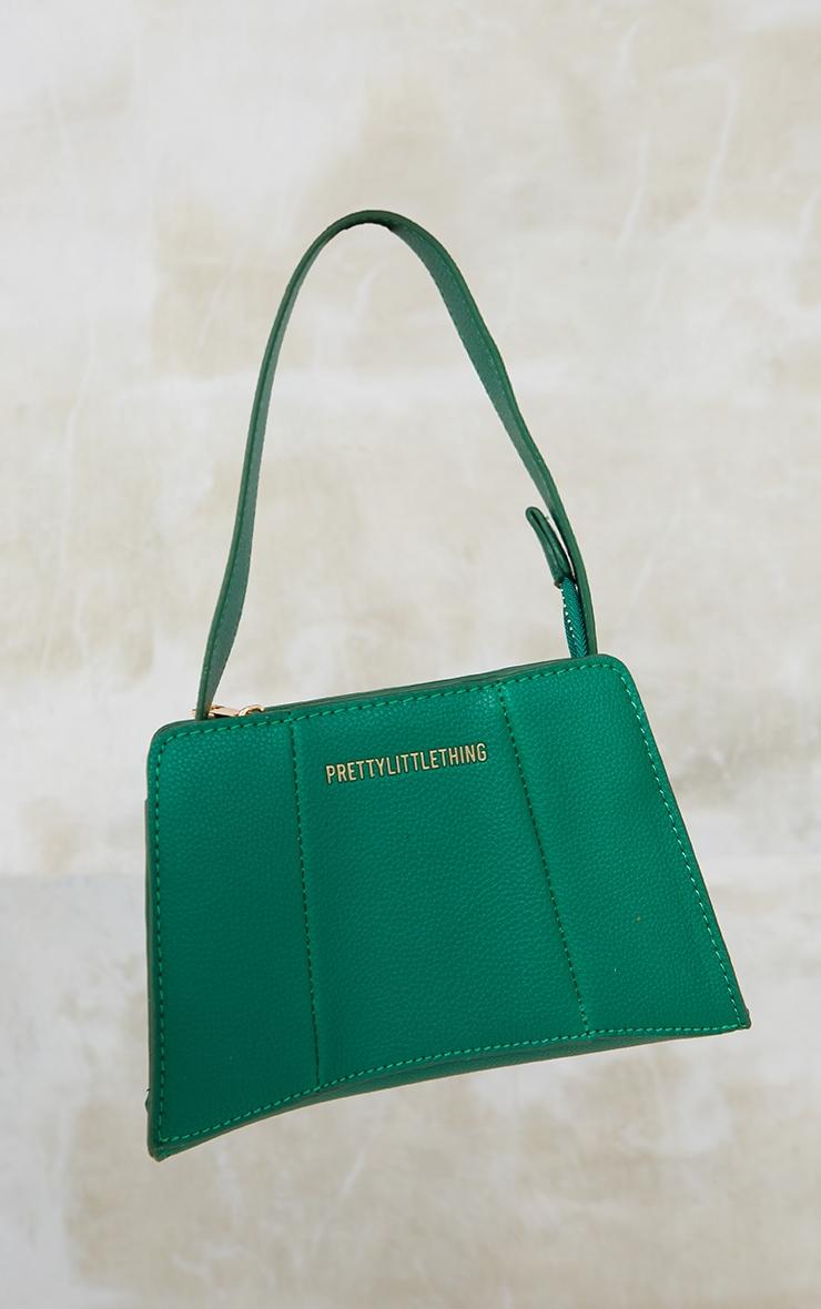 PRETTYLITTLETHING Green Triangular Shoulder Bag 4