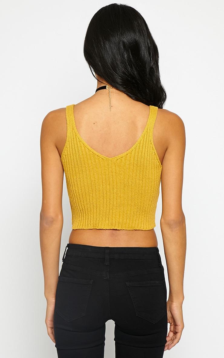 Fara Mustard Knitted Crop Top 2