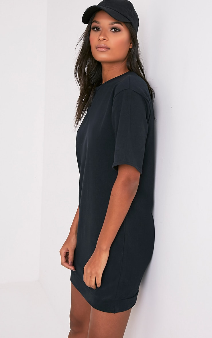 Anabelle Black Button Up Sweater Dress 4