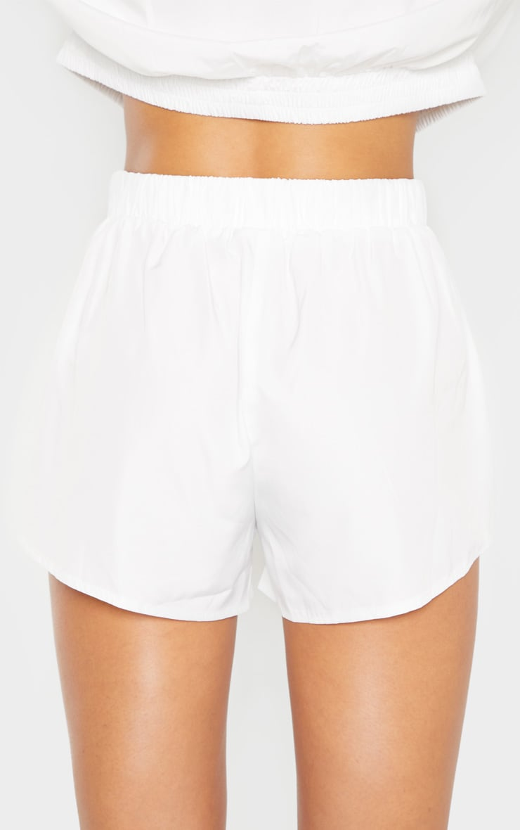 White Colour Block Shell Short 7