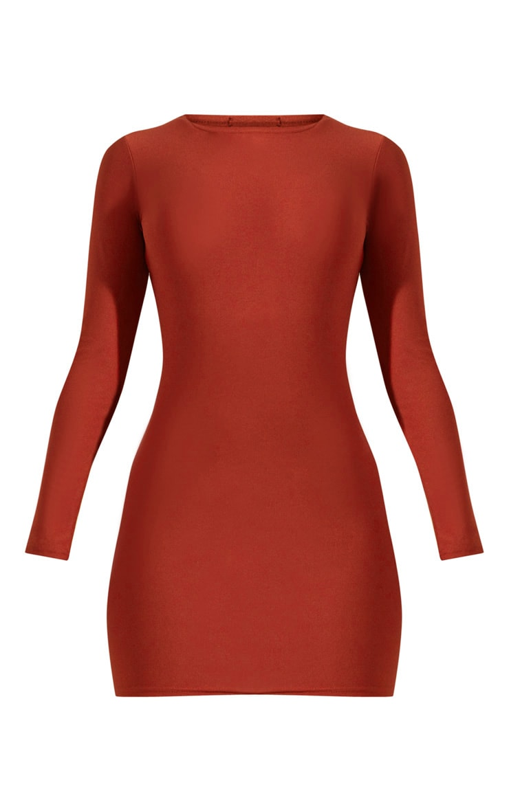 Auburn Long Sleeve Bodycon Dress  3