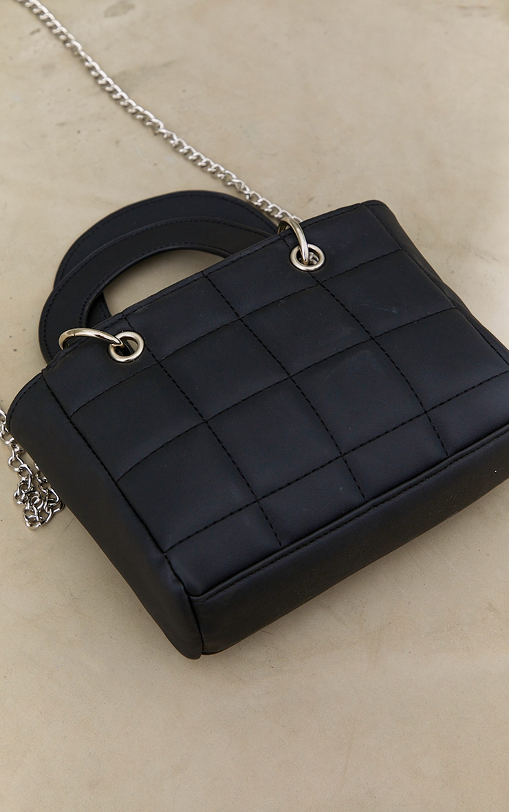 Black Quilted Mini Handbag 4