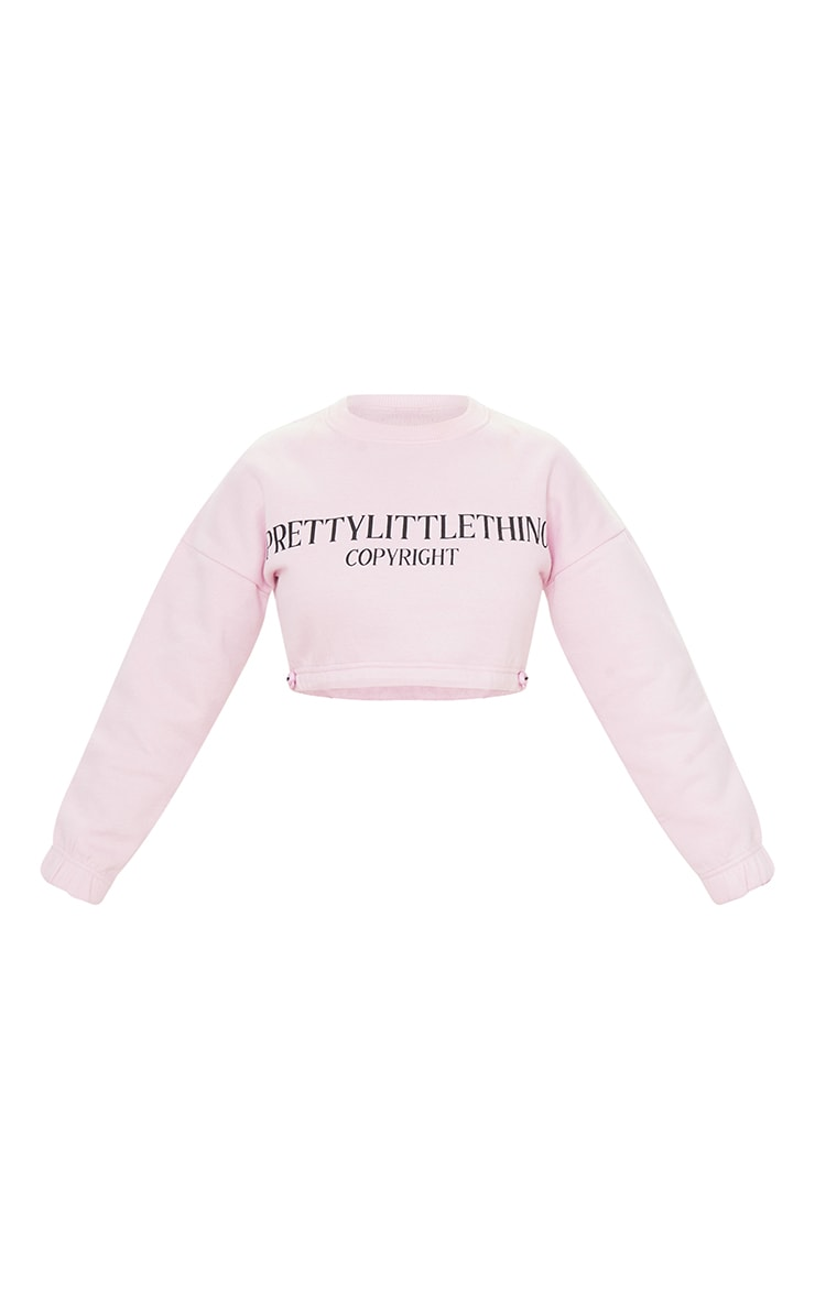 PRETTYLITTLETHING Petite Baby Pink Cropped Sweater 5