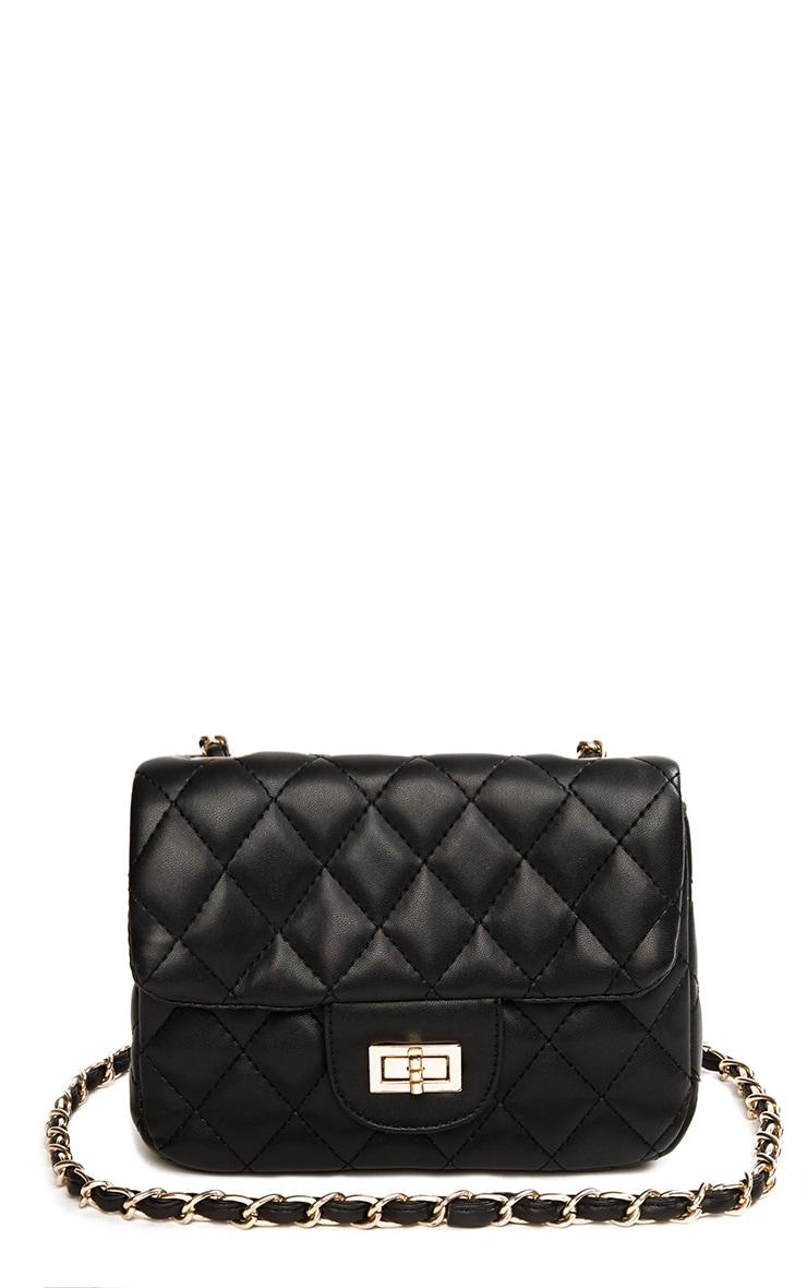 Corena Black Quilted Bag 3