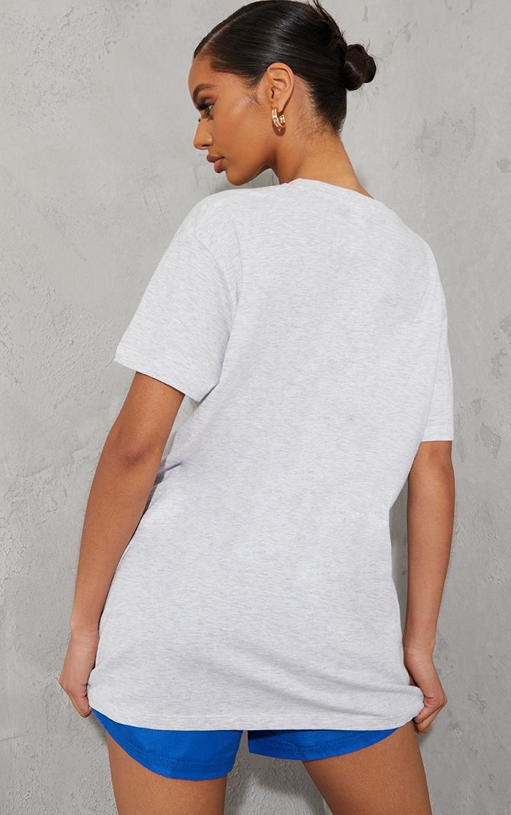Ash Grey Chicago Slogan Oversized T Shirt 2