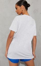 Ash Grey Chicago Graphic Oversized T Shirt 2