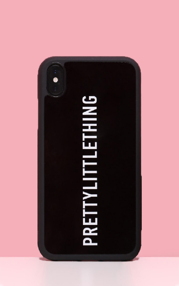 PRETTYLITTLETHING Black Logo XS Max iPhone Case 1