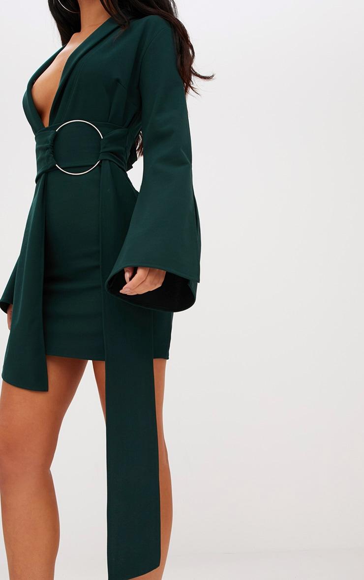 Robe blazer à anneau surdimensionné vert émeraude 5