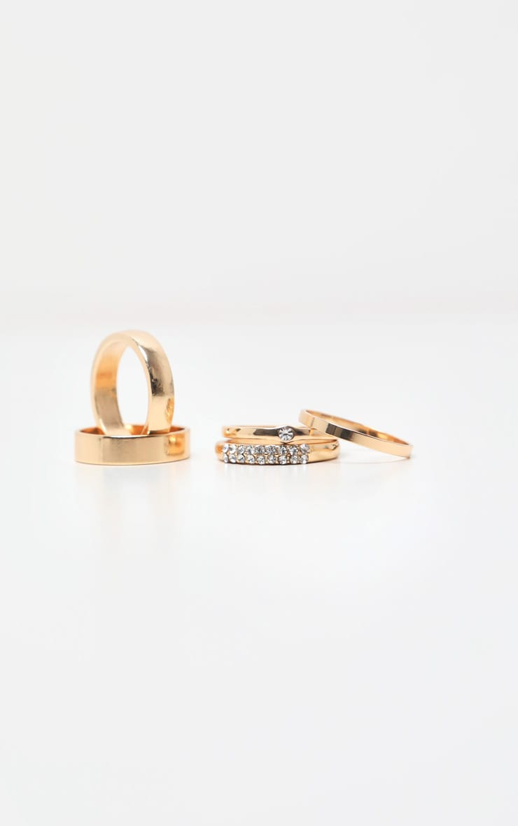 Gold Multi Assorted Pack Rings 3