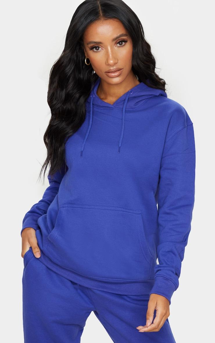Hoodie oversize bleu royal classique 1