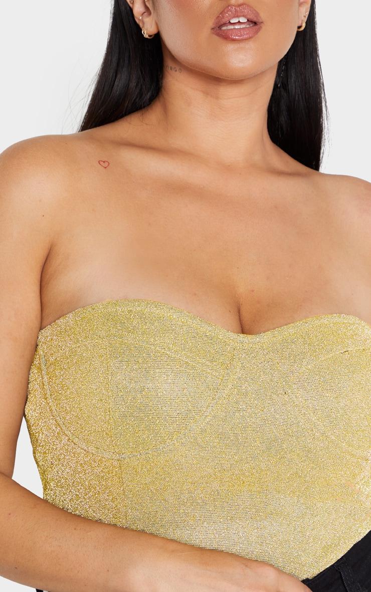Plus Gold Glitter Corset Bodysuit  6