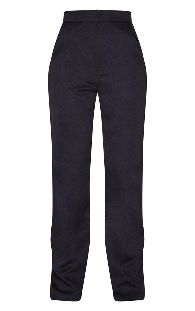 Tall Black Pocket Detail High Waisted Wide Leg Trouser 5