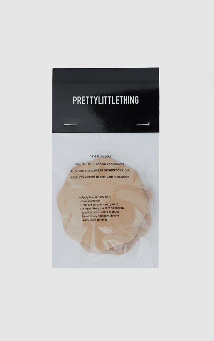 PrettyLittleThing Nude Slinky Scallop Nipple Covers 2
